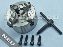 4-Jaw chuck 100 mm with cylindrical mount eccentric clamping