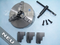 3-Jaw chuck 125 mm with cylindrical mount